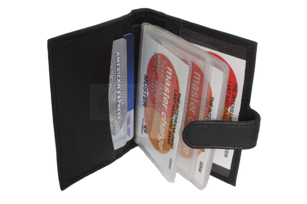 Small Leather Bi Wallet.  3 Card and Detachable 14 card Section W0034 Jinsted