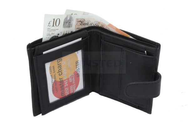 Gents Leather Wallets, Luxury Leather Bi Wallet.  7 Card and 3 Note Compartments, Jinsted