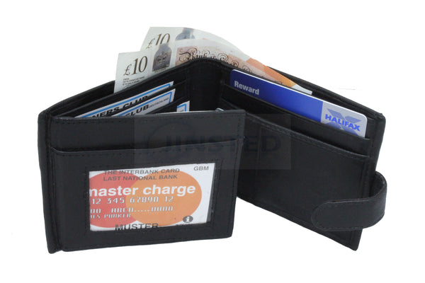 Large Leather Wallet.  15 Cards and 1 Note Compartment W0037 Jinsted