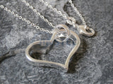 Silver Necklace with Heart Shaped Pendant WN001 Jinsted