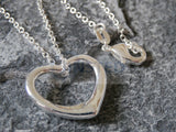 Silver Necklace with Small Heart Shaped Pendant WN004 Jinsted