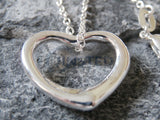 Ladies Jewellery, Silver Necklace with Small Heart Shaped Pendant, Jinsted