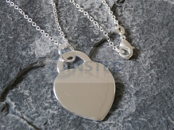 Ladies Jewellery, Silver Necklace with Heart Shaped Locket Pendant, Jinsted