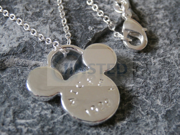 Silver Necklace with Mickey Mouse Pendant WN006 Jinsted