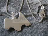 Ladies Jewellery, Silver Necklace with Monopoly Scottie Dog Pendant, Jinsted