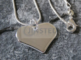 Ladies Jewellery, Silver Necklace with Solid Heart Pendant, Jinsted