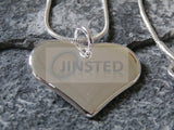 Silver Necklace with Solid Heart Pendant WN008 Jinsted