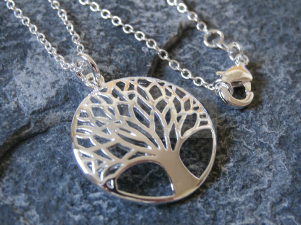 Ladies Jewellery, Silver Necklace with Tree of Life Pendant, Jinsted