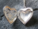 Ladies Jewellery, Silver Necklace with Heart Locket Pendant, Jinsted