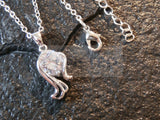 Ladies Jewellery, Silver Necklace with Seahorse Pendant with White Gem, Jinsted