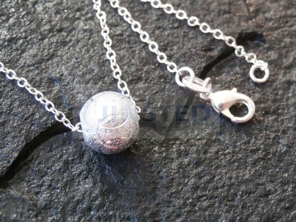 Ladies Jewellery, Silver Necklace with 3D Ball Pendant, Jinsted