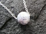 Silver Necklace with 3D Ball Pendant WN043 Jinsted