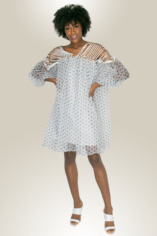 X7072 POLKA DOT DRESS - N by Nancy