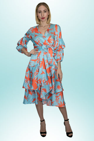 A90054 PRINT DRESS - N by Nancy