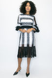 A8025 BLK/WHT DRESS - N by Nancy