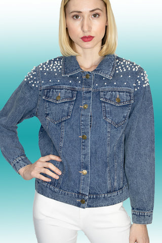 Q1369 DENIM JACKET TOP - N by Nancy