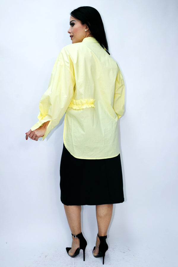 B11004 TOP (WHT, BLK, YELLOW) - N by Nancy