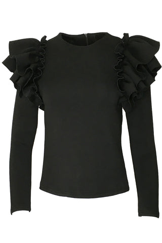 C202013 SWEATER TOP (BLK)