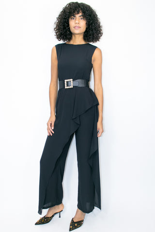 C1926 PANTSUIT JUMPER (BLACK, WHITE, ROYAL)