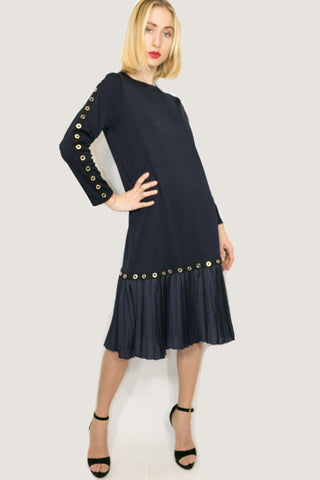 C11226 DRESS (NAVY) - N by Nancy