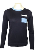 H2056 SWEATER (NAVY, BLK)