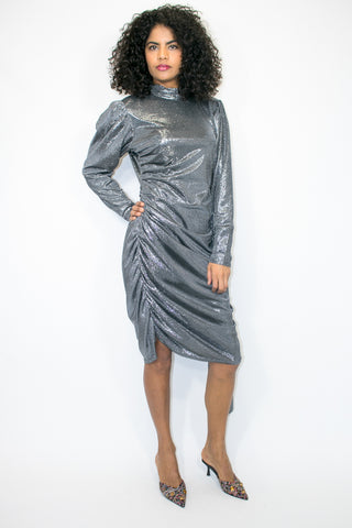 X6961 DRESS (silver) - N by Nancy