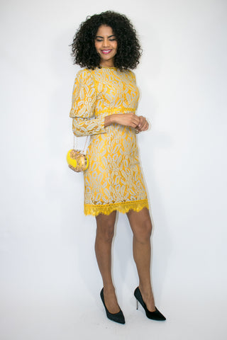 X6921 DRESS (yellow) - N by Nancy