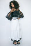 C1912 SKIRT (black, white) - N by Nancy