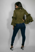 A2002 FAUX SUEDE TOP (coffee, olive) - N by Nancy