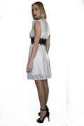 X7123 DRESS (WHITE, BEIGE) - N by Nancy