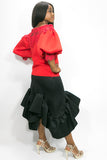 C1833 SKIRT (red, blk, blue)