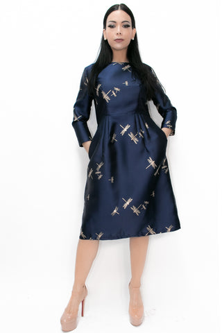C11258 NAVY DRESS - N by Nancy