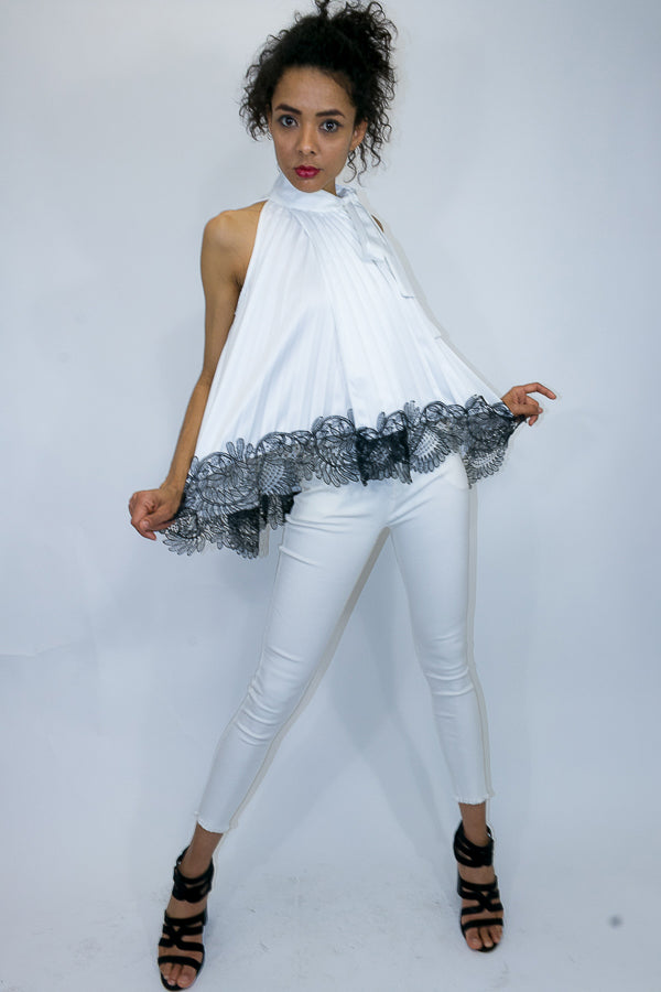 X7003 TOP (white, blue) - N by Nancy