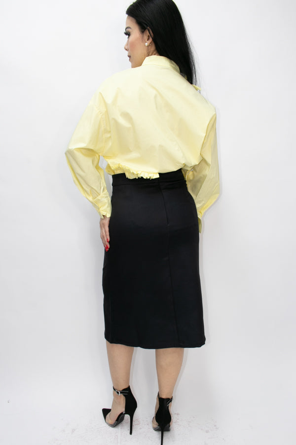 T1312 SKIRT (RED, YELLOW) - N by Nancy