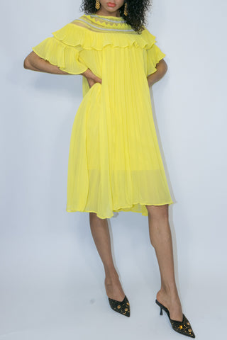X6969 DRESS (yellow, white)