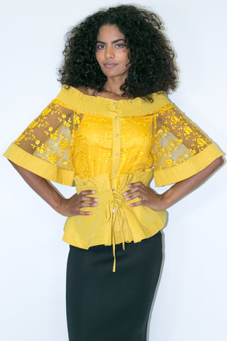 X6990 TOP (yellow, white, blk) - N by Nancy