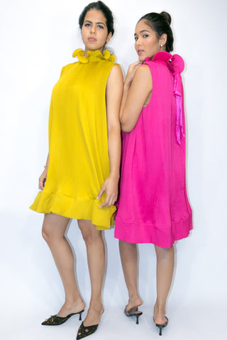 X6991 DRESS (pink, yellow) (LTD SIZES) - N by Nancy