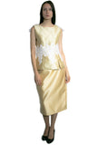 L1001 SKIRT (white, gold, black) - N by Nancy