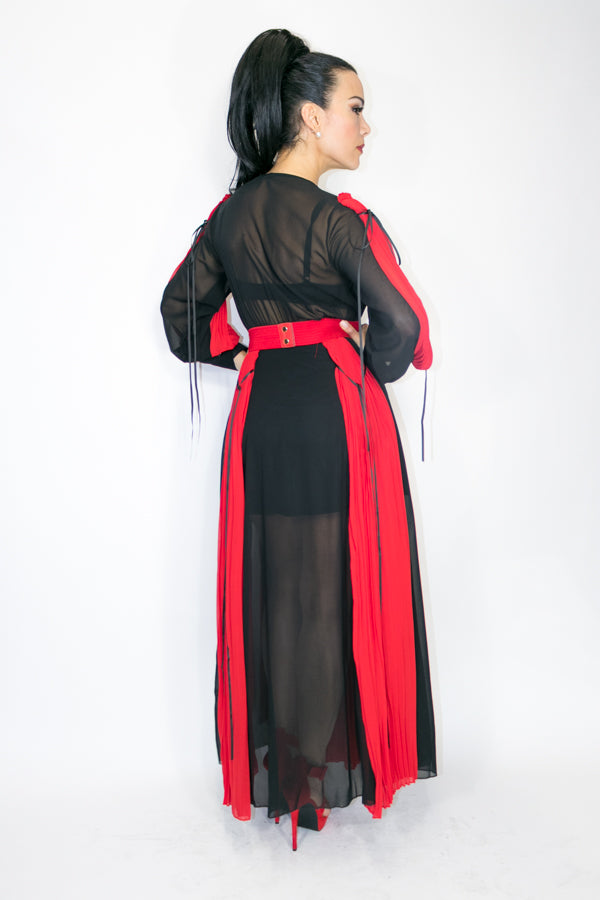 C1112 DRESS (BLACK/RED) - N by Nancy