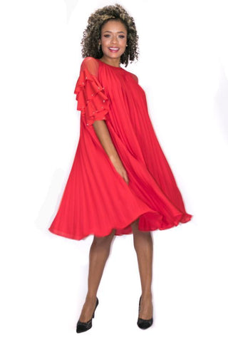 W865 DRESS (red, blk, white)