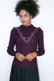 M4026 SWEATER TOP (black, grey, plum) - N by Nancy