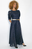 C1990 DRESS (NAVY, RED) - N by Nancy