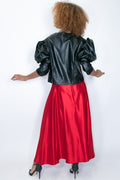 C11126 FAUX LEATHER JACKET (red, black) - N by Nancy