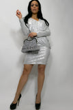 Q1339 DRESS (SILVER) - N by Nancy
