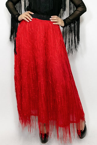 C11183 SKIRT (black, red)