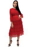 A8132 DRESS (WHT, RED, BLK) - N by Nancy
