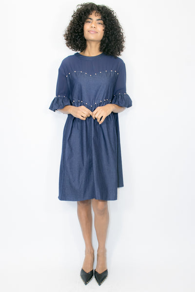 W1608 DRESS (DENIM)