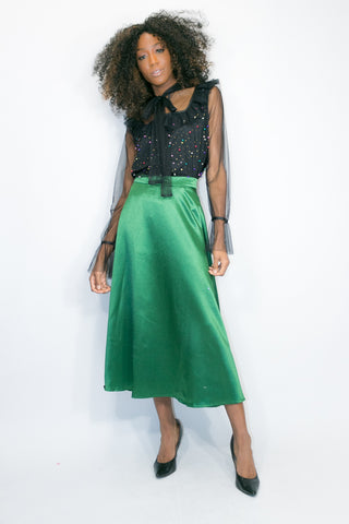 C11230 SKIRT (HUNTER GREEN)