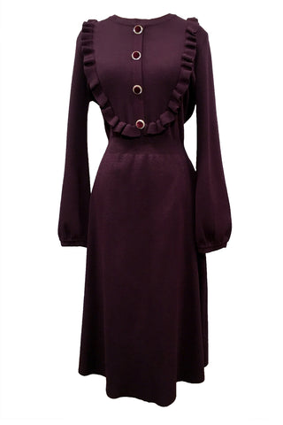 M3023 DRESS (PLUM, BLK)