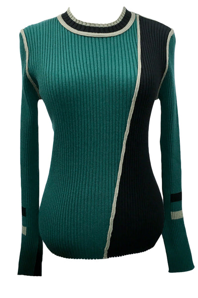 M4044 SWEATER (GREY, GREEN)